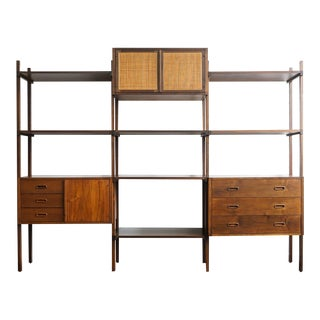 1960s Danish Modern Founders Freestanding Wall Unit For Sale