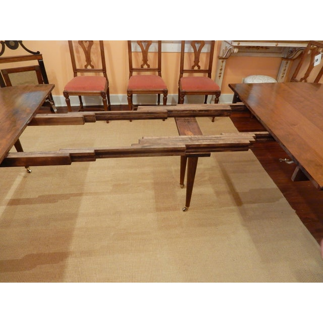 Original round part of the extension table is 19th c. The original leaves were made of pine. The reason being that in the...