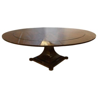 Mid-Century Modern Rosewood Circular Dining or Center Table by Holly Hunt For Sale