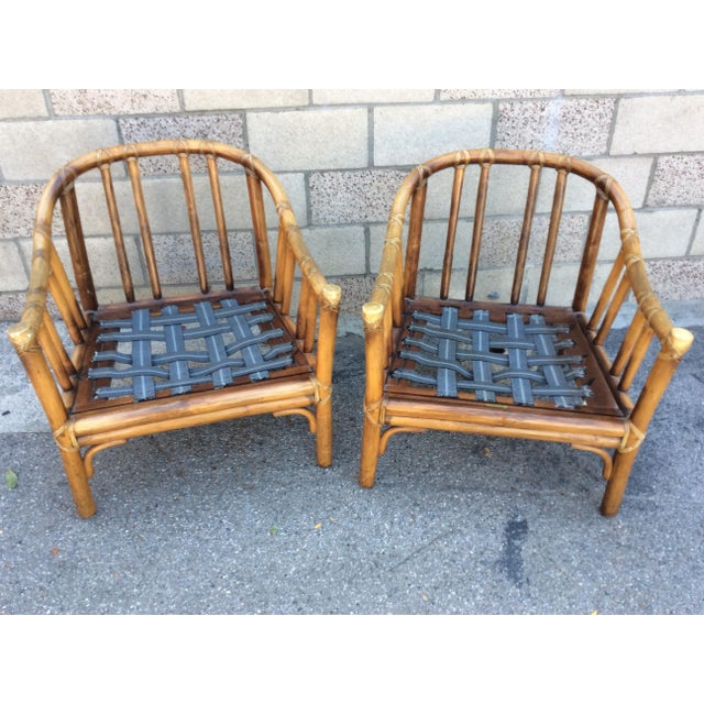 1970s Vintage McGuire Chairs- A Pair For Sale - Image 5 of 11