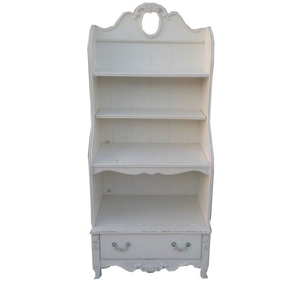 White Shabby Chic Wooden Bookshelf - Image 1 of 3