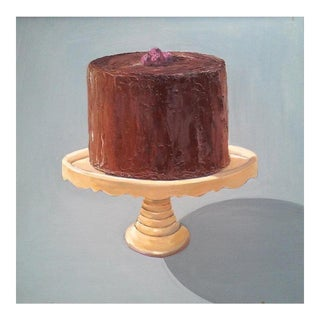 Chocolate Raspberry Cake Print by Paula McCarty For Sale