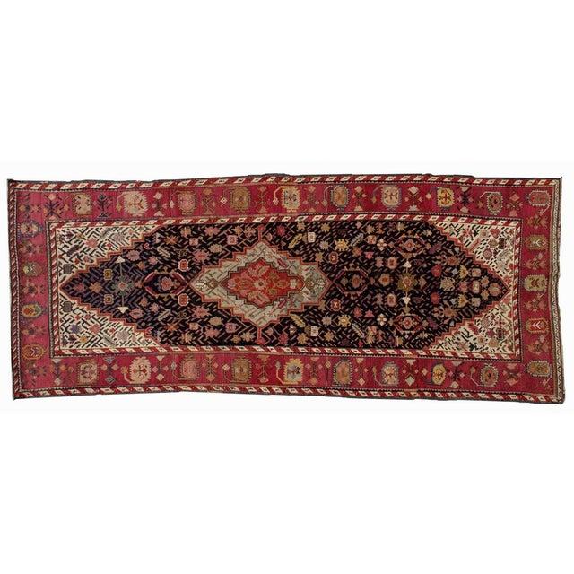 Textile 1880s Antique Hand Made Caucasian Karabagh Rug- 4′6″ × 11′7″ For Sale - Image 7 of 10