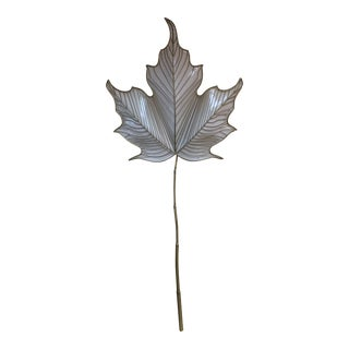 Vintage Sculptural Leaf Sconce Signed 1978 C. Jere For Sale