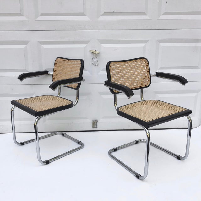 Hollywood Regency Vintage Modern Cesca Style Dining Chairs- Set of 8 For Sale - Image 3 of 13
