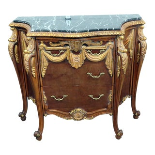 Empire Style Marble Top Commode For Sale