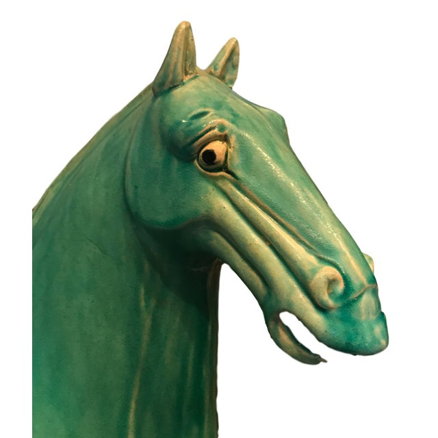 Architectural Salvage Turquoise Pottery Horse - Image 2 of 7