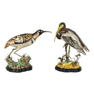 Pair of Porcelain Figures of Birds For Sale