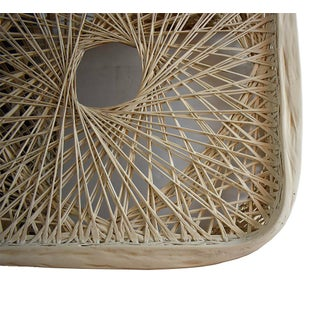 Hollywood Regency Russell Woodard Spun Fiber Side Drink Tables or Patio Tables - a Pair Preview
