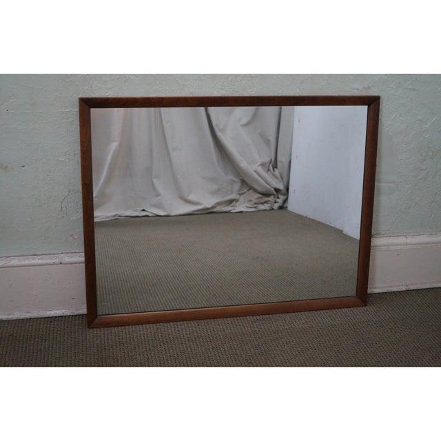 Heritage Henredon Mid-Century Modern Walnut Mirror - Image 2 of 10