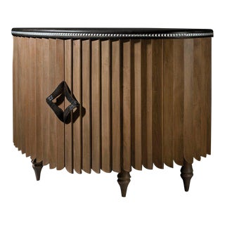 Black Lacquer & Ebony Demi-Lune Sideboard by Jacobo Ventura For Sale