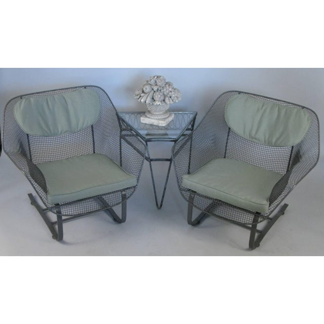 Russell Woodard Pair of Russell Woodard 1950s Sculptura Lounge Chairs For Sale - Image 4 of 9