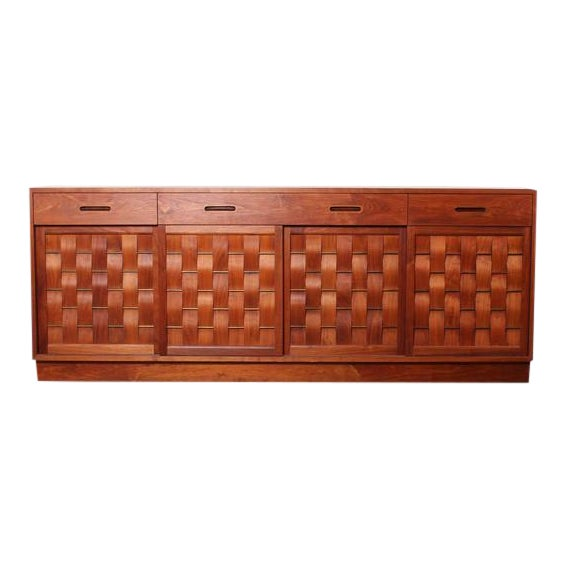 Woven Front Cabinet by Edward Wormley for Dunbar For Sale