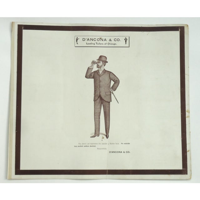 Antique Edwardian Men's Fashion Plate Print For Sale - Image 5 of 5