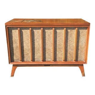 Mid Century Danish Modern Rca Record Player Media Console For Sale