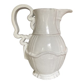 French Astierre De Villatte White Pitcher For Sale