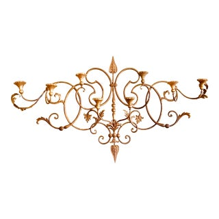 Vintage Italian Florentine Gilded Wall Sconce For Sale