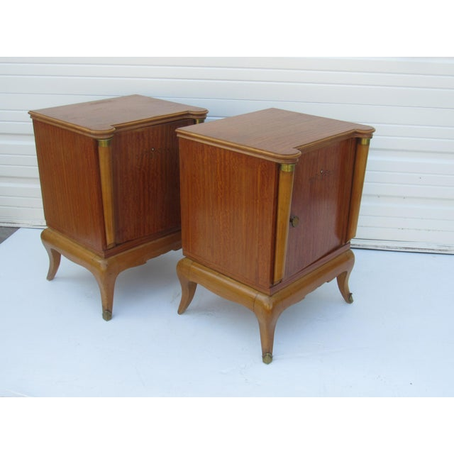 1950s French Maple Nightstands - A Pair - Image 7 of 10