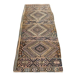 Early 20th Century Antique Turkish Hand-Knotted Runner Rug - 2′11″ × 6′4″ For Sale