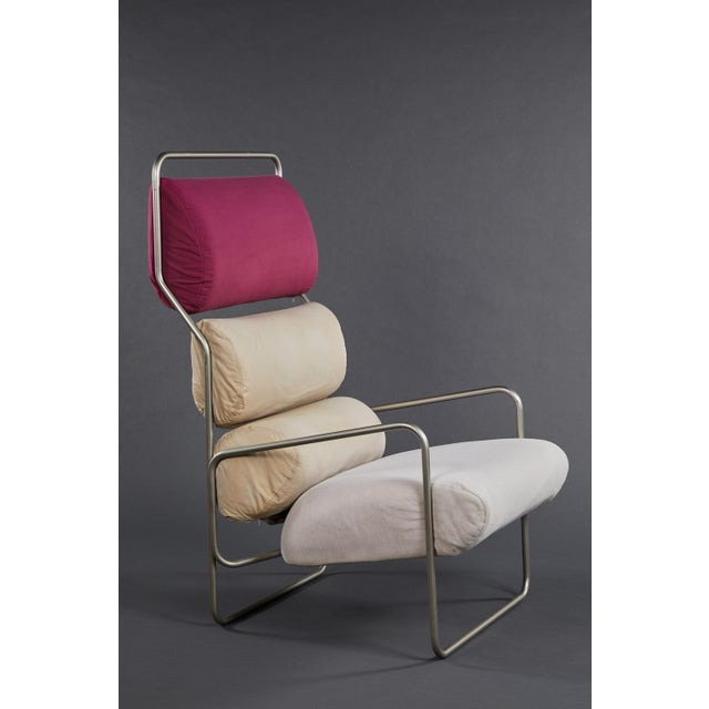 "Bauhaus Pair of Achille Castiglioni ""Sancarlo"" Tubular Metal Chairs for Driade For Sale - Image 3 of 9"