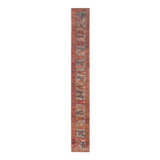 Late 19th Century Antique Serapi Rug - 2′ × 14′7″ For Sale