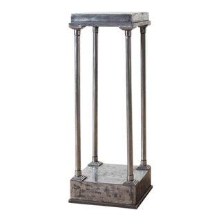 1940s Vintage French Steel Pedestal For Sale