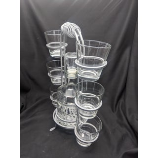 Mid Century Modern Retro Drink Caddy With Six Glasses and Decanter Preview