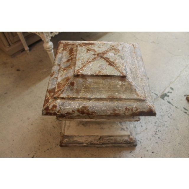 French Zinc Pedestal Fragment - Image 3 of 6