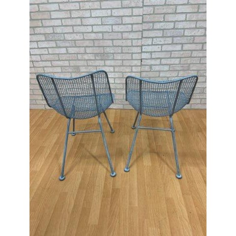 Russell Woodard Mid Century Modern Russel Woodard Sculptural Collection Patio Chairs - Pair For Sale - Image 4 of 11