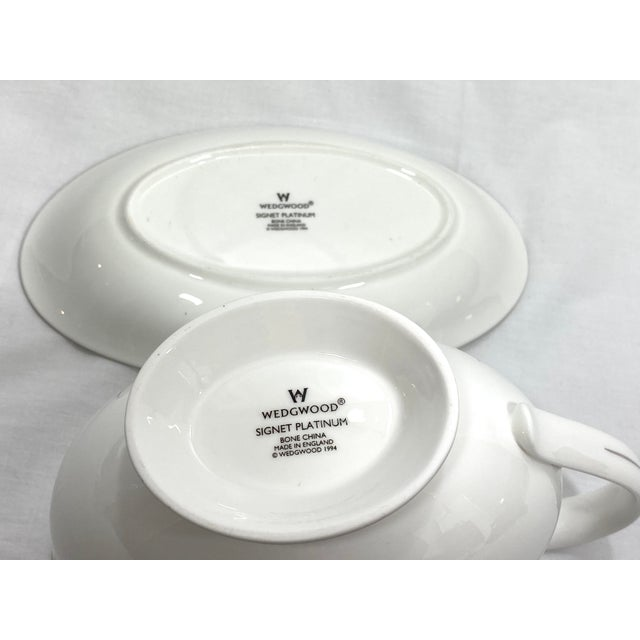 Wedgwood Gravy Boat & Saucer, Set of 2 For Sale - Image 9 of 11