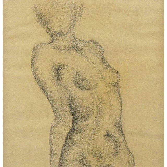 1934 French Marie Louise Simard Nude Female Study Pencil Drawing - Image 5 of 10