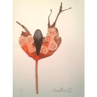 Antler Botanical Watercolor Painting