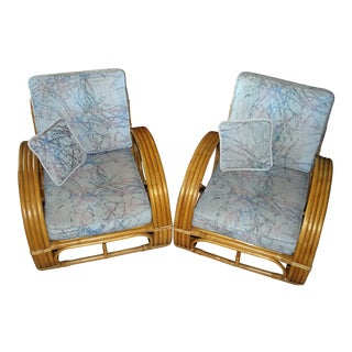 Vintage Paul Frankl Design Lounge Chairs - a Pair