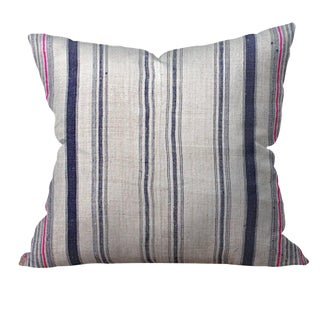 Hmong Stripe Hemp Pillow