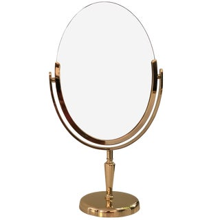 Brass Vanity Mirror by Charles Hollis Jones For Sale