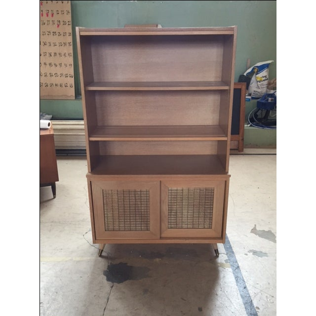Mid-Century Blonde Hutch - Image 2 of 5