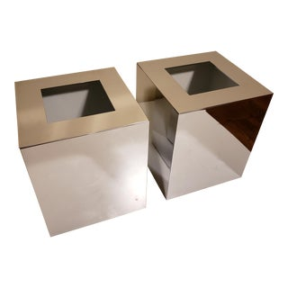 Windisch by Nameek's Luxury Waste Baskets - Set of 2 For Sale
