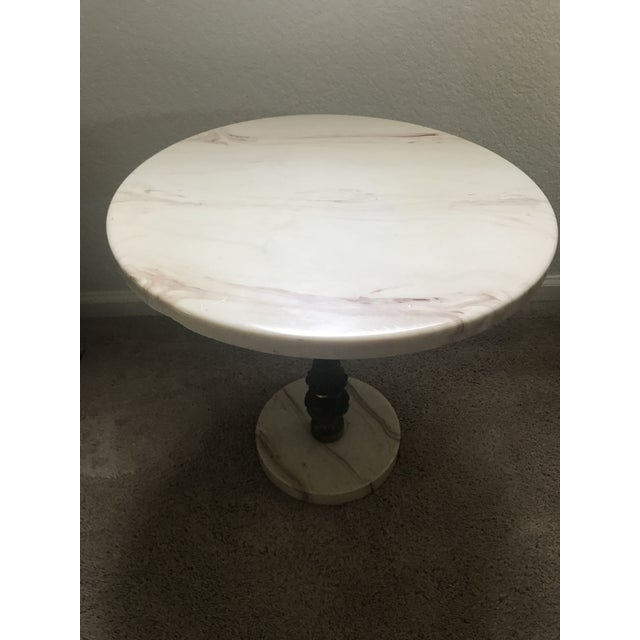 Hollywood Regency Marble Accent Table For Sale - Image 5 of 6