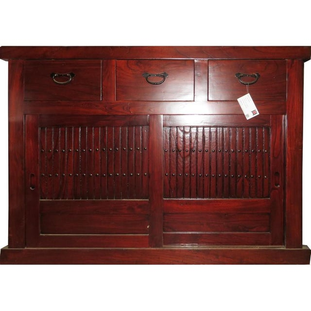 Asian Chinese Tansu Sideboard For Sale - Image 3 of 3