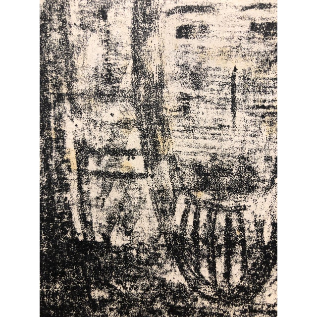 Abstract Ruth Bannon Mid Century Masked Man Lithograph For Sale - Image 3 of 4
