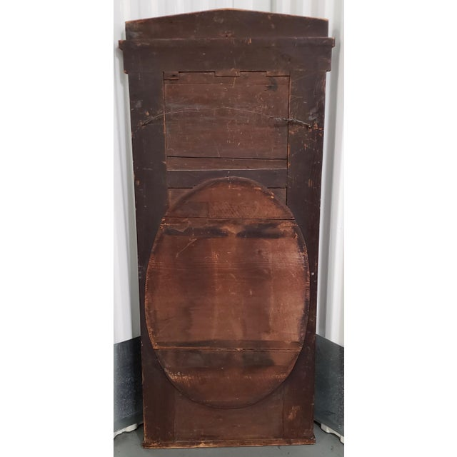 Metal Early 19th Century Walnut & Mahogany Biedermeier Mirror C.1830s For Sale - Image 7 of 8