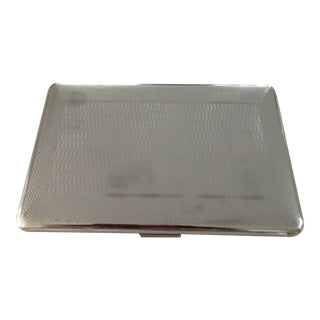 Vintage Chrome Cigarette Case from England For Sale
