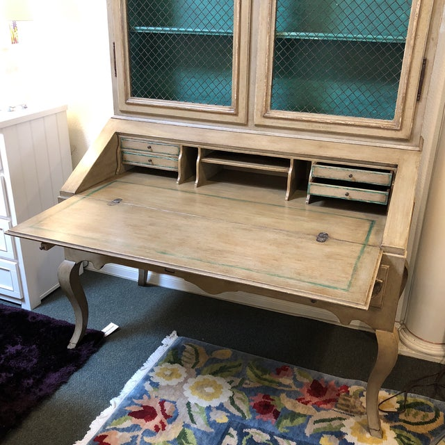 Minton Spidell Louis XV Hand Painted Secretary Desk - Image 2 of 11
