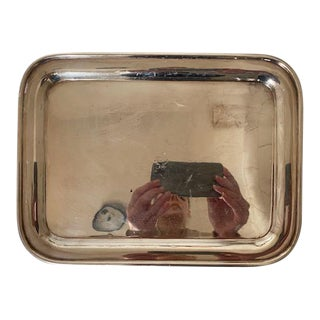 1927 Sterling Silver Plated Hotel Tray For Sale