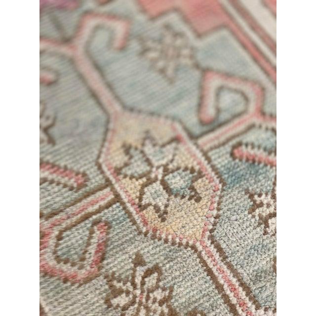 Textile 1940s Vintage Oushak Runner Rug - 2′9″ × 7′11″ For Sale - Image 7 of 9