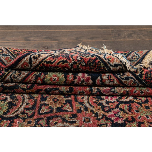 Vintage Persian Wool Rug 3'10'' X 6'4'' For Sale - Image 4 of 11