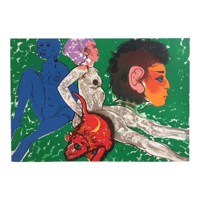 "Robert Beauchamp Original Lithograph ""Red Rat"" - Image 1 of 8"