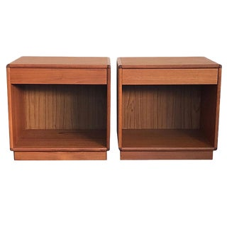 Danish Modern Teak Nightstands or Side Tables - a Pair For Sale