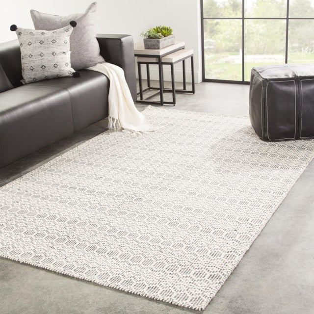 2010s Jaipur Living Calliope Handmade Trellis White & Gray Area Rug - 2'x3' For Sale - Image 5 of 6