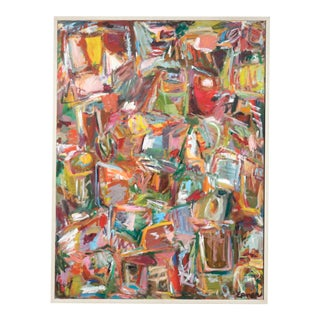 """Jazz Improv"" Acrylic on Canvas by Hilda Epner For Sale"